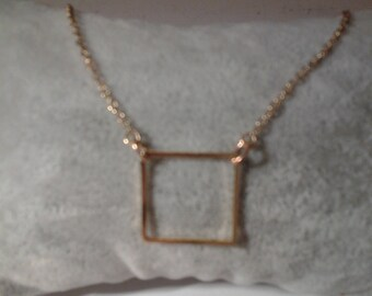 Choker necklace pattern square plated gold