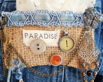 shabby chic brooches/pins. Handmade one of a kind accessories