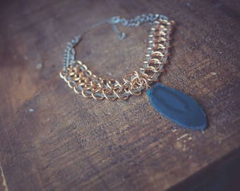 Handmade Agate Choker | Agate | gemstone necklace