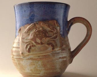 11 ounce Oooops...Blue Crab Ceramic Mug!