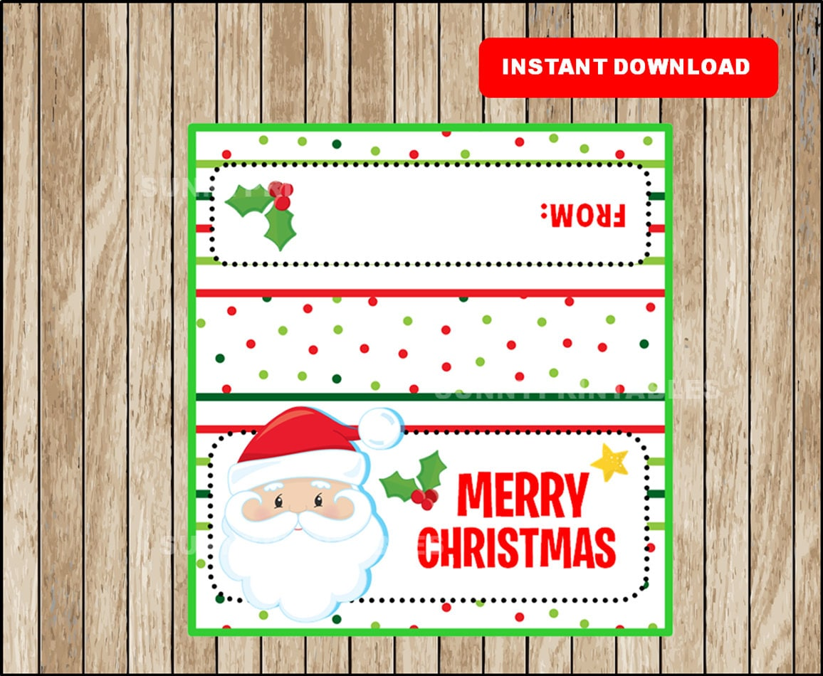Insane image for christmas bag toppers free printable