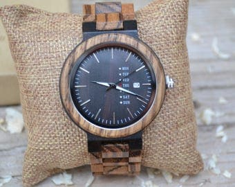 Wood Watches by S O N D E R - Mahogany and Sandal Wood  Wooden Watches, Coffee Gents Wooden Watch, Authentic Wood watches, Watches for men.