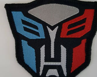 Transformers - The Autobots Symbol Logo Iron On Patch Sew on Embroidered Transfer Fancy Dress
