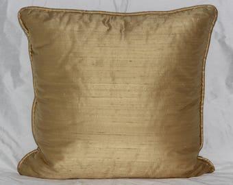 Gold Dupioni Silk Pillow Cover
