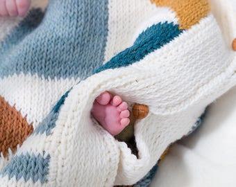 Haakpatroon tunische gehaakt babyslaapzakje geometrisch