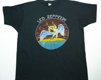 Vintage Led Zeppelin Shirt 1980 Swan Song