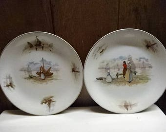 A Lovely Pair of Booths Silicon China Decorative Collectors Plates/Collectable/Vintage