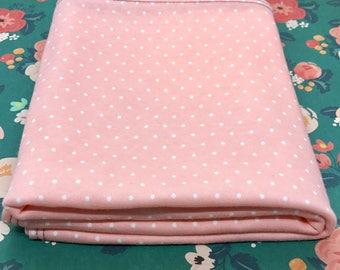 "24"" x 40"" pink polka dot organic cotton t-shirt hair towel"