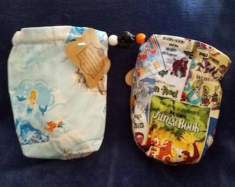 Cinderella Fabric Dice Bag Small Drawstring Bag