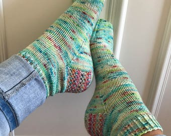 Hand-knitted socks Gr. 40-41 from hand-dyed wool