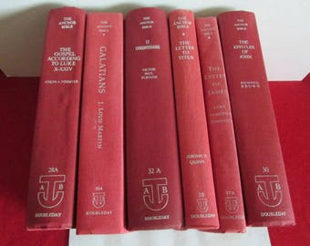 Anchor Bible Hardcover Group  of Six Books