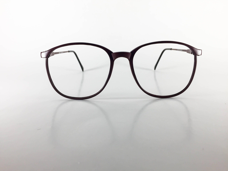 6c3b4eecb12 Elan  77 P3 Carbon 55 Eye Wine Plastic Unisex Vintage Eyeglasses NOS  Deadstock - ElaF432Z
