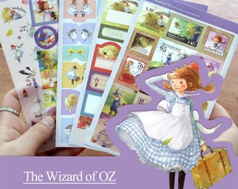 "Stickers 5 sheets set ""The Wizard of Oz"""