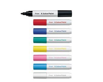 8 Assorted Colors Full Set - Pilot Juice Paint SJP-160M-8C Medium Bullet Tip 8-Color Paint Markers