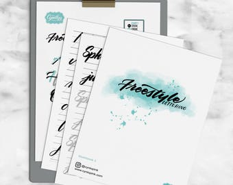 Brush Calligraphy Workbook : Freestyle Lettering