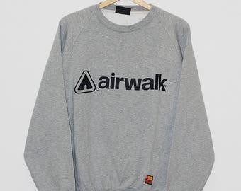 Vintage Airwalk Spellout Big Logo Crewneck Pullover Sweatshirts