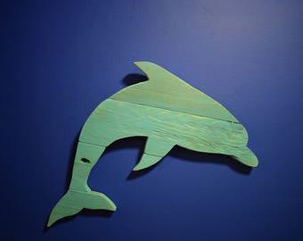 Rustic Dolphin Pallet Wood Art Hanging Decor