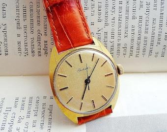 Raketa 2609.HA soviet watch wind up // Mens watch USSR vintage // Russian mechanical gold-plated watch