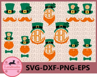 60 % OFF, Leprechaun Hat SVG, Patrick Monogram Svg, dxf, ai, eps, png, Silhouette, Digital Cutting Files, St Patricks Day SVG cut files