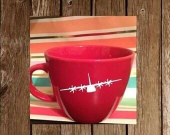 C130 mug or wine glass