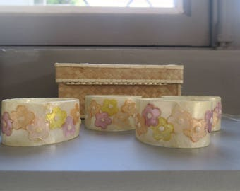 Vintage mother of Pearl napkin rings