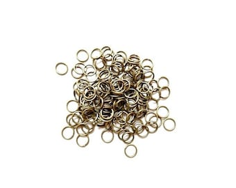 600 7mm antique Bronze jump rings