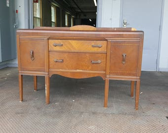 Art Deco Antique Waterfall Server Sideboard