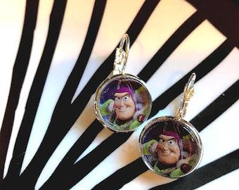 Handmade Buzz Lightyear cabochon earrings- 16mm