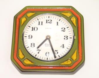 Vintage 70s kitchen clock