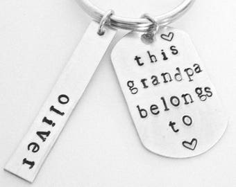 Grandpa Keychain, Grandparent Gifts, Father Day Gift For Grandpa, New Grandpa, Fathers Day Gift, Fathers Day Keychain,Personalized Keychain