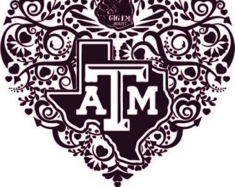 Intricate Heart A & M DXF PNG SVG Digital Cut Files