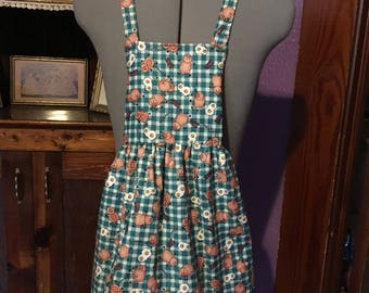Country Bacon & Eggs Girls Apron size 5-6