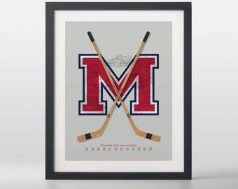 Montréal Canadiens-inspired Hockey Art Print