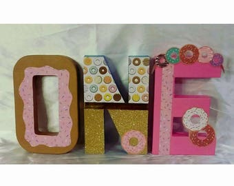 Donut Themed Letters