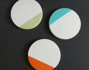 Coasters - White Cement - Set of 4