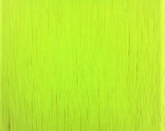 7'' Inch Long Fringe Neon Yellow Chainette Fringe Price Per Yard