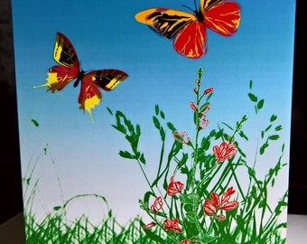 Butterflies - Abstract Artwork - Greeting Card