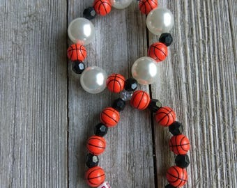 Kids bracelet - kids jewelry - baby bracelet - school bracelet - basketball bracelet - sports bracelet - beaded bracelet - gumball bracelet