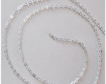 Solde -5% Chain mesh oval Silver - 50cm