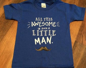 All this awesome in such a little man tee