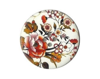 2 buttons wood 5 cm, 50 mm scrapbooking, sewing flower