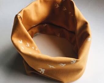 Scarf - infinity scarf in yellow - winter accessory - loop scarf - kids scarf - circle scarf - sjaal - kinder sjaal - colsjaal