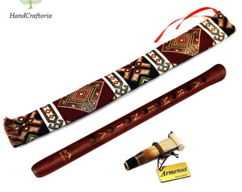 Professional Armenian DUDUK Apricot Wood Armenian Oboe Balaban Woodwind Instrument - national case with Playing Instruction