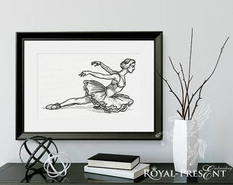 Swan Lake Ballet Machine Embroidery Design - 8 sizes