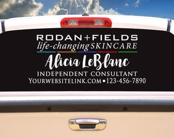 Rodan and Fields R+F life-changing skincare-Business logo- Car Vinyl Decal
