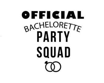 Official Bachelorette Party Squad - Bachelorette Shirt