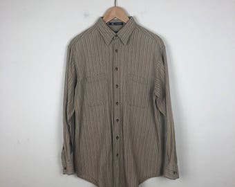 Vintage Brown Button Up Size Small