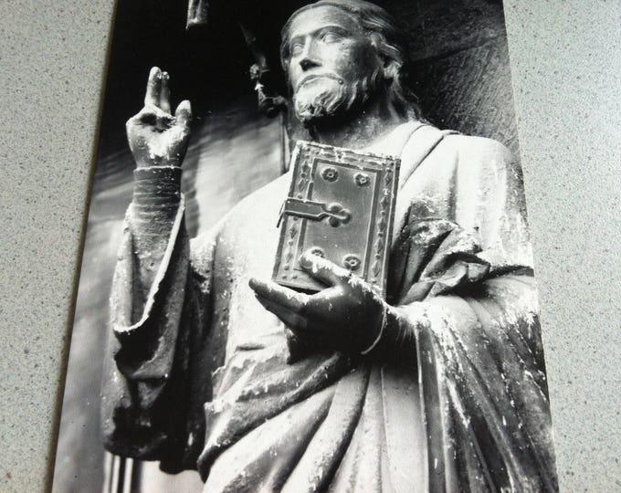 Vintage Religion Church Cathedrale D Amiens Postcard Maria Photo