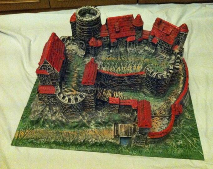 Vintage German Schaffhausen Knights Castle Elastolin / Lineol Figures