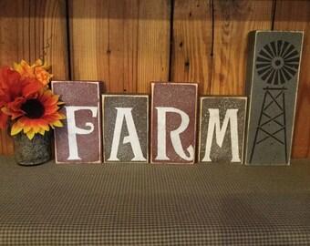 Farm and Windmill Blocks